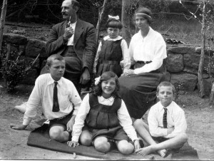 William Brown with his family